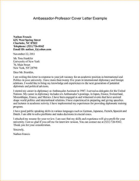 exle of formal letter to lecturer formal letter format to a professor letters