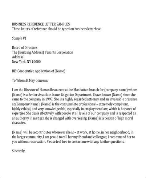 sample reference letter formats ms word