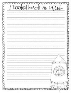 space themed writing paper lined writing paper for with space for an