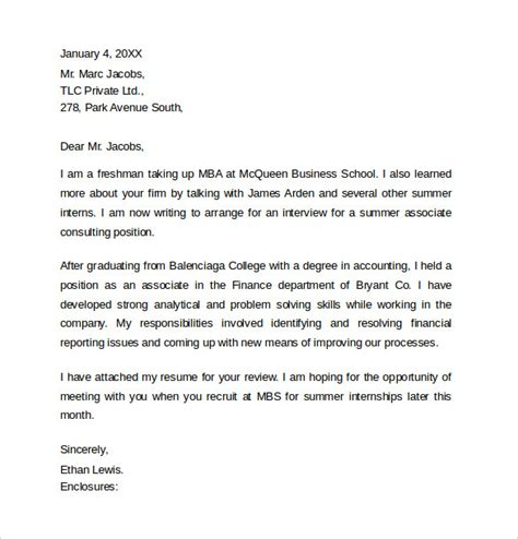 cover letter sle for consulting internship 28 images