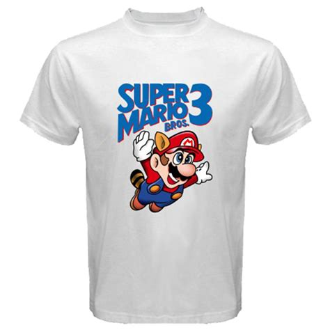 White Cat Fish Shirt Size S M L Xl mario bros 3 nintendo wii retro white t shirt size s