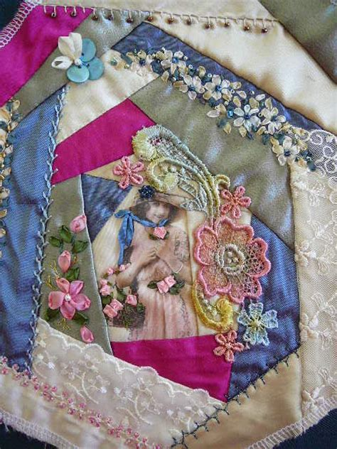 Patchwork Embroidery - silk ribbon embroidery silk ribbon embroidery
