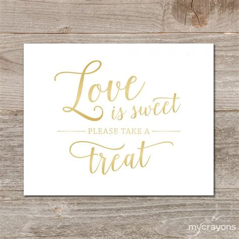 gold love  sweet sign gradient gold wedding sign