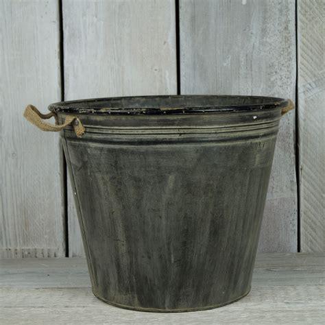 Zinc Planters by Large Zinc Planter Satchville Gift Co Garden Pots