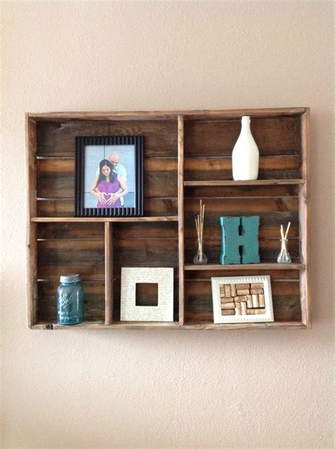 Wood Wall With Shelves Reclaimed Wood Wall Shelf Large By Delhutsondesigns On Etsy