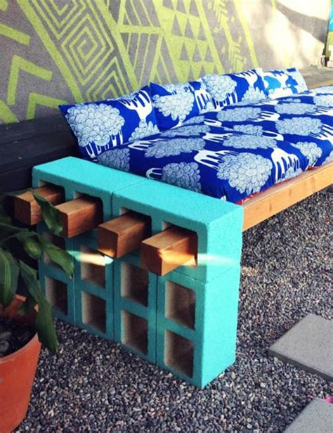 cinder block furniture backyard 25 concrete block ideas to try and enjoy cheap diy outdoor