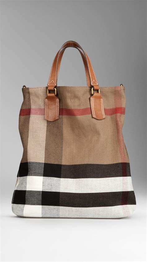 Burberry Check Canvas Tote by Medium Check Canvas Tote Bag Burberry List