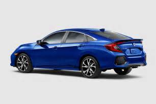 2017 honda civic si sedan rear three quarter motor trend