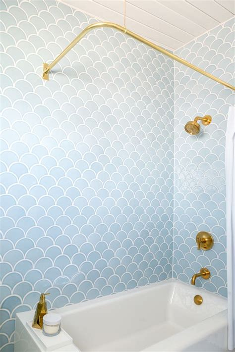 Picture Of Fish Scale Bathroom Tiles Shower Fish