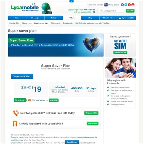 lyca mobile unlimited lycamobile unlimited national calls and sms with 5gb data