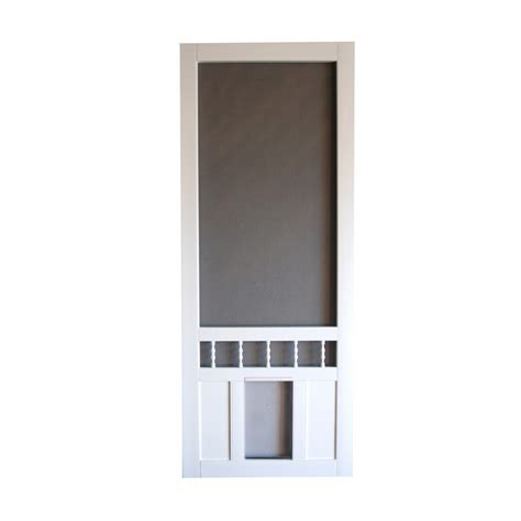Screen Doors Lowes by Shop Screen Tight Southport 30 In White Vinyl Screen Door