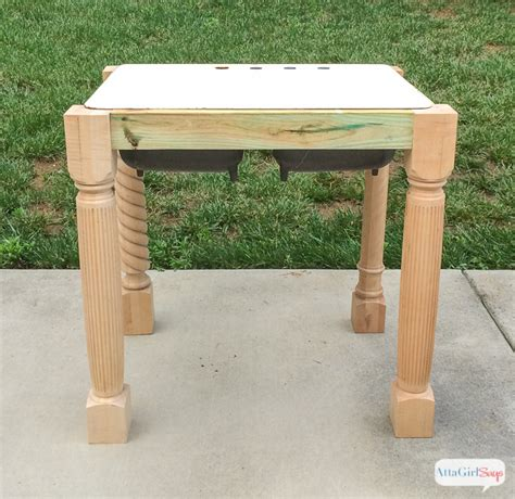 how to build a base for an apron front sink apron front cast iron sink planning our diy kitchen