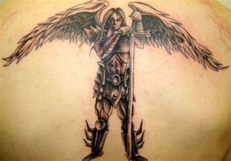 guardian angel back tattoos for men 25 marvelous guardian tattoos for creativefan