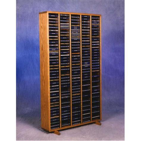 wood shed solid oak cd rack tws 509 4