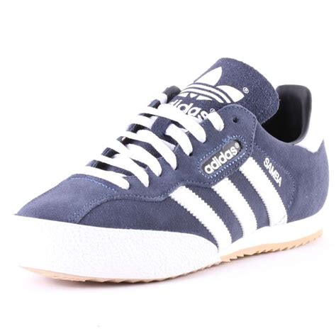adidas samba adidas samba mens suede trainers in navy white