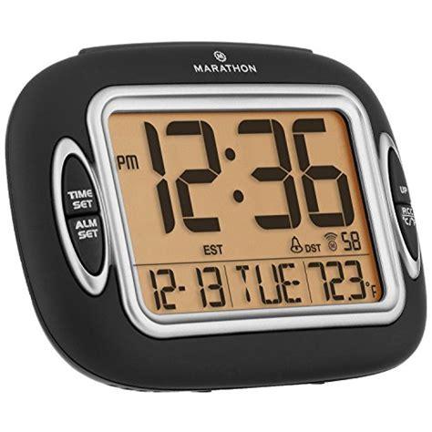 atomic alarm clock large display auto light temperature date self setting