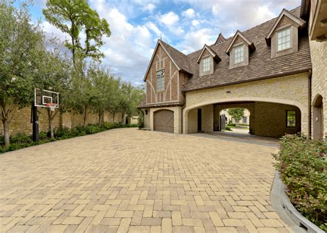 covered garage driveway pavers garage contemporary with garage door