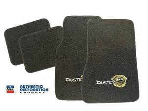 1970 1976 plymouth duster 4 floor mats with logos