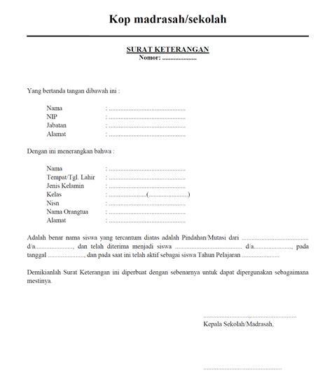 mts amin darussalam contoh surat surat untuk keperluan
