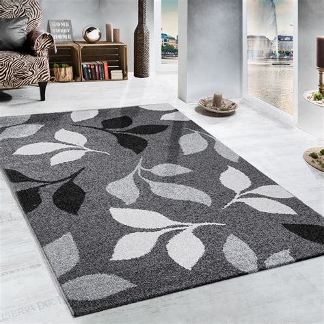 area rug black white grey pattern rugs floral decor floor heavy woven rug floral design modern carpet in grey and