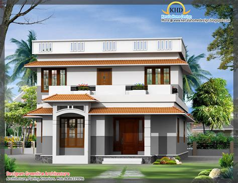 architect house plan 3d modern house