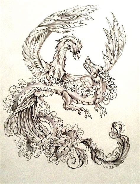 tattoo design huruf cina dragon and phoenix tattoo design by lucky978 on