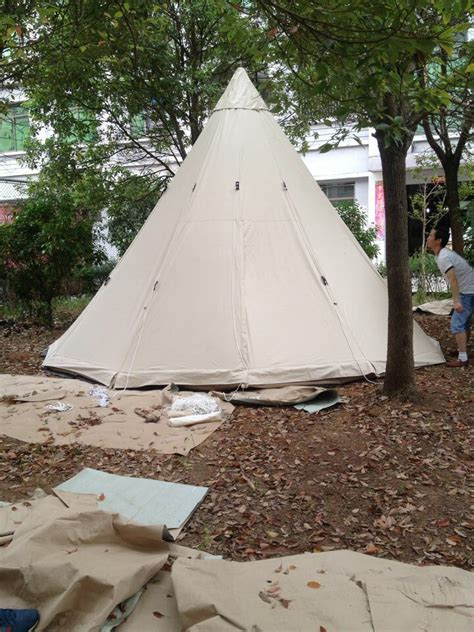 Teepee Tent Pesanan Customer free shipping sale 4m dia outdoor cing tent teepee tent indian tipi tent bell tent in