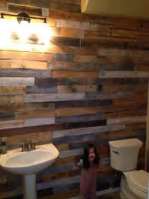 wood wall bathroom wood pallet wall for hotter home interior decor