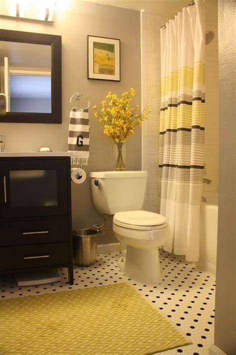 yellow grey bathroom black grey and yellow bathroom for the home pinterest