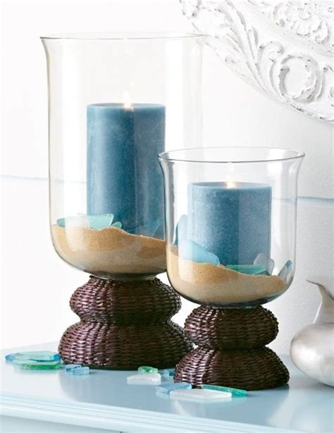 Candle In A Glass Vase by The Candle Holders For Beachcombers Bliss