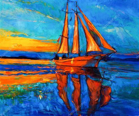 imagenes artisticas del impresionismo barco de vela foto de stock 169 borojoint 34197023