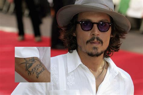 tattoo di johnny depp celebrity tattoos the best and the worst bizarbin com