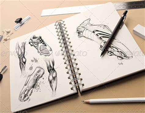 sketchbook mock up free free soccer mockup psd search with behance2pdf