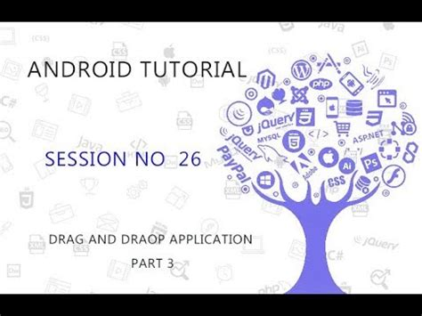 android studio tutorial for beginners youtube android studio tutorial 26 drag and drop application part