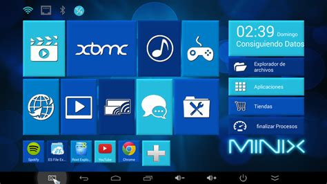 themes for android tv box tema azul para el escritorio de nuestro tv box minix neo