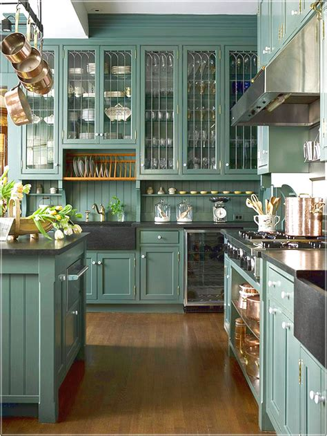 Kitchens With Black Cabinets Pictures green kitchen cabinets with black appliances choosing your