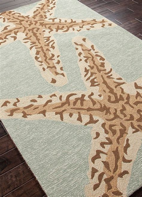 beach rugs home decor sea star silver lake blue area rug back in stock