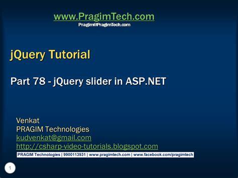 Tutorial Jquery Slider   sql server net and c video tutorial jquery slider in