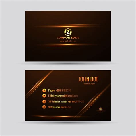 shiny card template shiny business card with golden details vector free