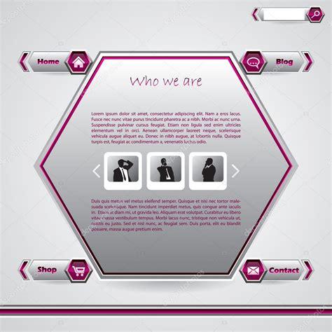 Hexagon Website Template Stock Vector 169 Vipervxw 7141530 Hexagon Website Template