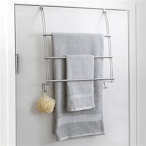 the door storage rack bathroom totally bath the door towel bar bed bath beyond