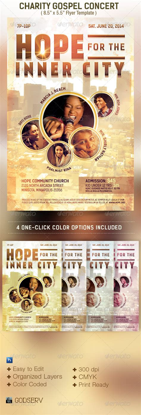 templates for concert flyers charity concert flyer template flyer template and