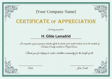 employee anniversary certificate template company employee appreciation certificate design template