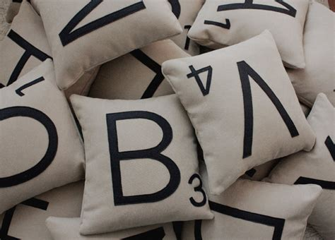 Scrabble Pillows by 1 Scrabble Letter Pillow With Insert Scrabble By