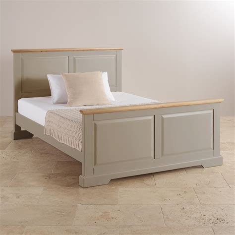 St Ives King Size Bed In Grey Painted Acacia Oak Grey Painted Bedroom Furniture