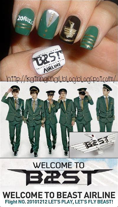 Kaos K Pop Beast Creative 1 33 best k pop nails images on korean nails