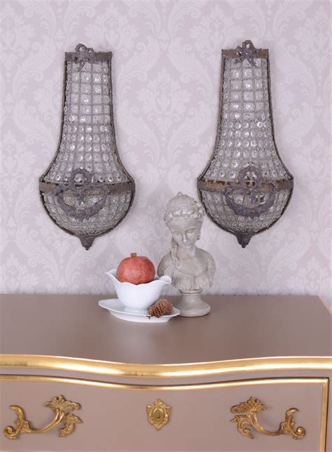 Lu Colok Dinding Wall L Shabby pair basket chandeliers wall ls shabby chic wall mounted luminaires ebay