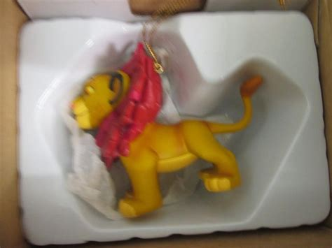 disney grolier simba the king tree decoration boxed for sale in leeds west