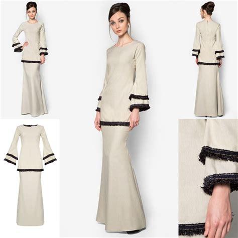 kurung baju kurung malaysia fesyen terkini raya koleksi baju kurung koleksi baju kurung moden kain cotton contoh 36
