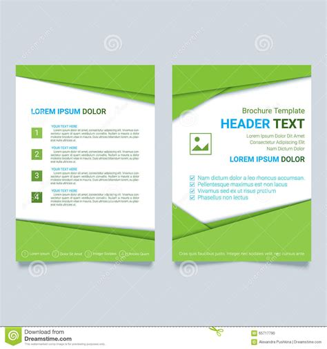 material design leaflet flyer in the style of the material design cartoon vector